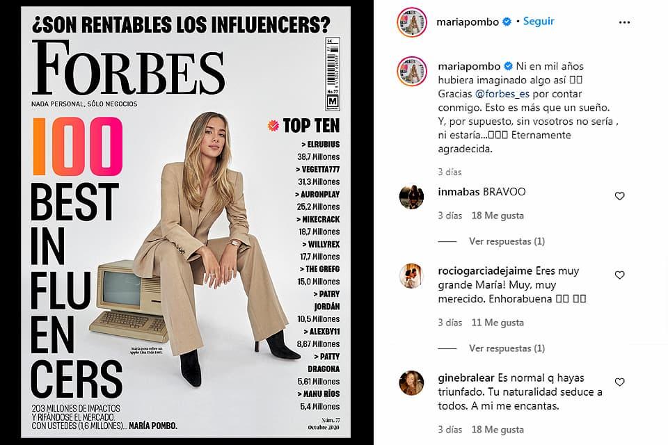 María Pombo, de Instagram a portada de Forbes