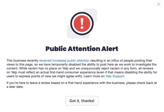 Alerta de atención pública