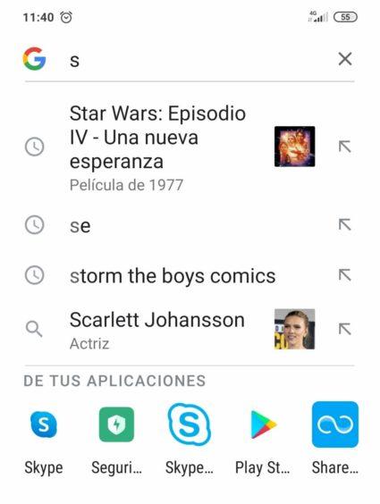 Búsquedas inteligentes de Google