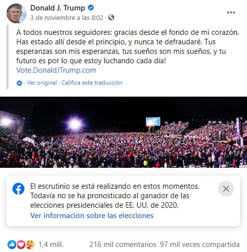 Trump en Facebook