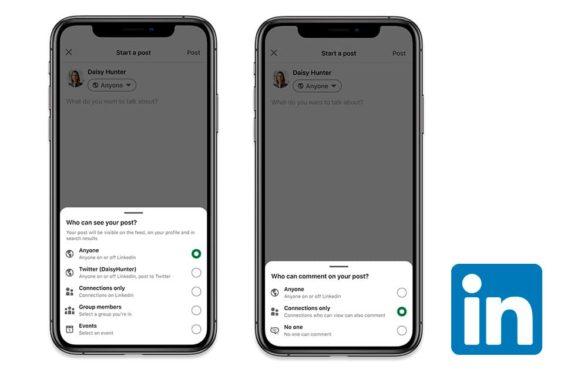 Ahora puedes elegir quién ve y comenta tus publicaciones en LinkedIn