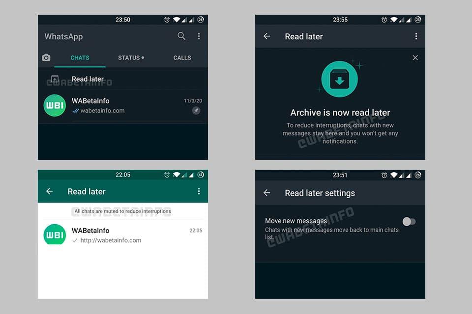 """""""Leer después"""", la nueva función de Whatsapp"""