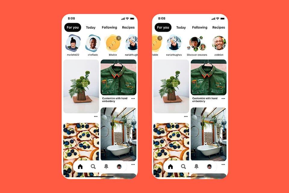 Pinterest añade un carrusel de Stories