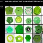 reloj pentágono verde DALL-E