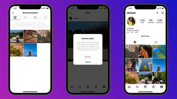 Ahora puedes recuperar contenido eliminado en instagram