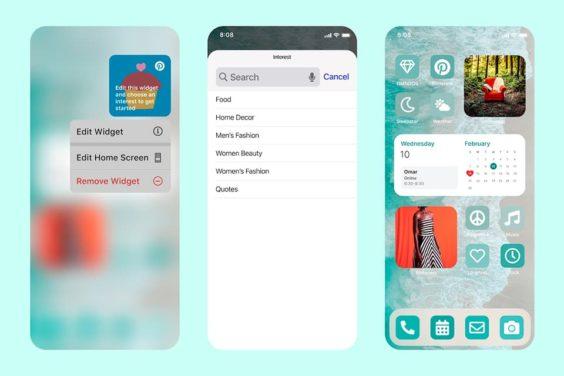 Interests, el nuevo widget de Pinterest para iOS