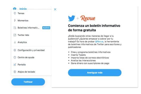 Newsletters en Twitter