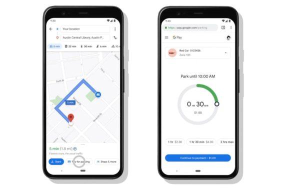 Pagar el parquímetro con Google Maps