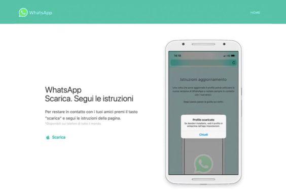 Versión falsa de WhatsApp para iPhone