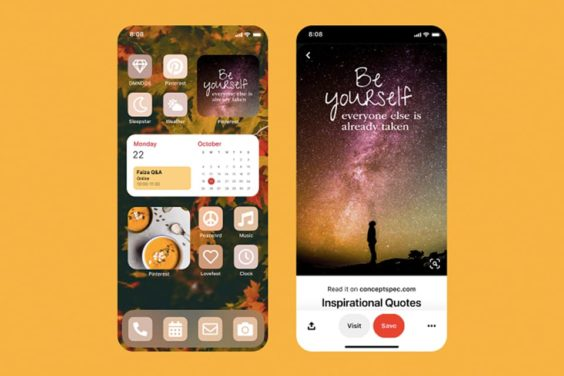 Widgets de Pinterest para iOS