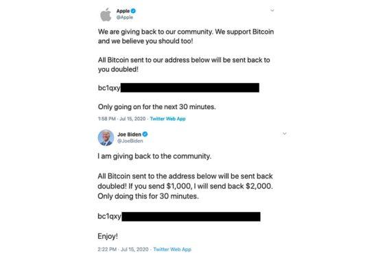 Estafa de bitcoin de Twitter de 2020