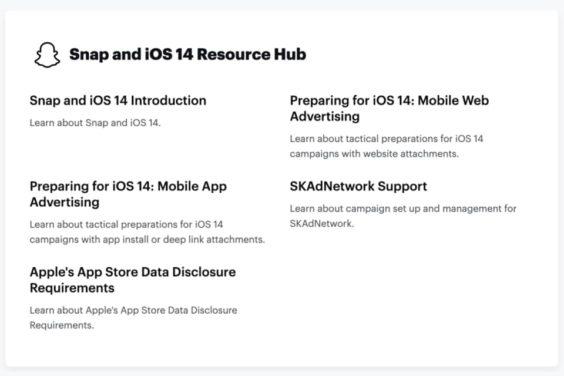 Snapchat ayuda a sus anunciantes para prepararse para iOS 14