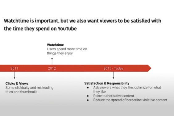 Cómo ha cambiado el enfoque de YouTube