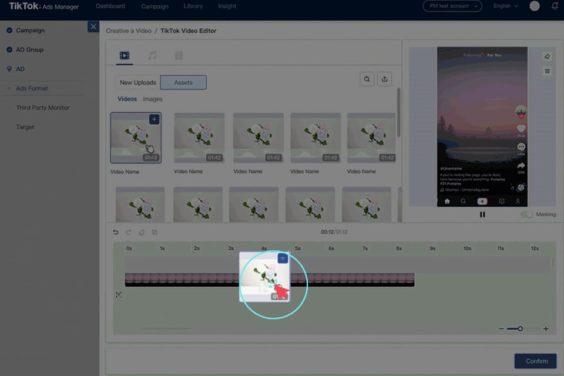 Cómo introducir materiales en el editor de vídeo de TikTok