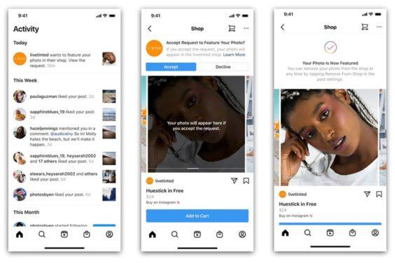 Incluir contenido de la comunidad en Instagram Shopping