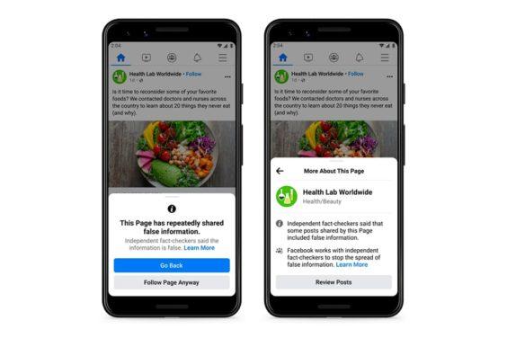 Nuevas alertas de Facebook contra la desinformación
