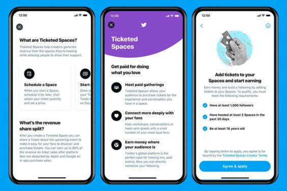 Ticketed Spaces, la nueva vía de monetización para creadores en Twitter