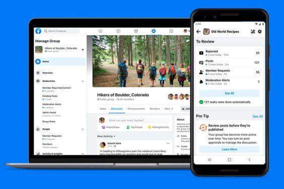 Admin Home, el nuevo panel para grupos de Facebook