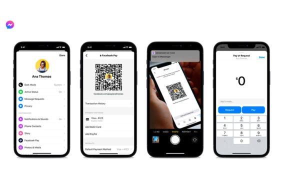 Códigos QR y enlaces de pago en Messenger