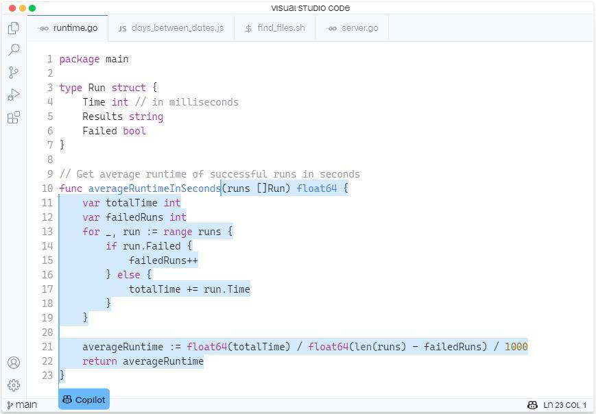GitHub Copilot ejemplo