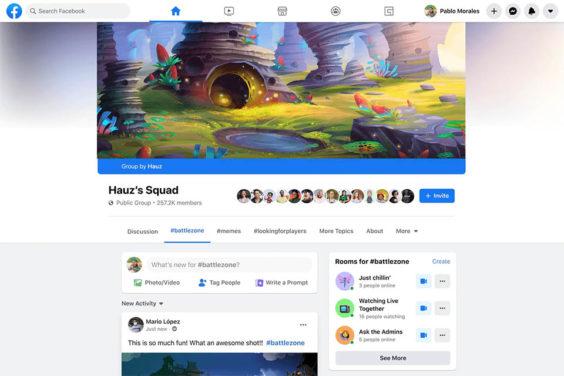 Facebook lanza un nuevo tipo de grupos destinado a sus streamers de videojuegos, con el fin de que estos construyan sus comunidades de fans