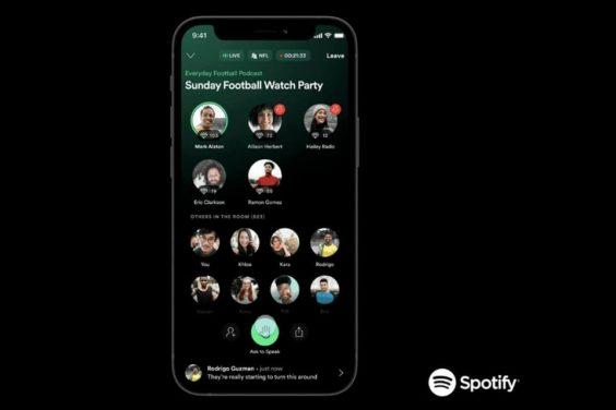 Las salas de audio en Greenroom de Spotify