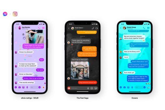Nuevas temas para los chats de Messenger