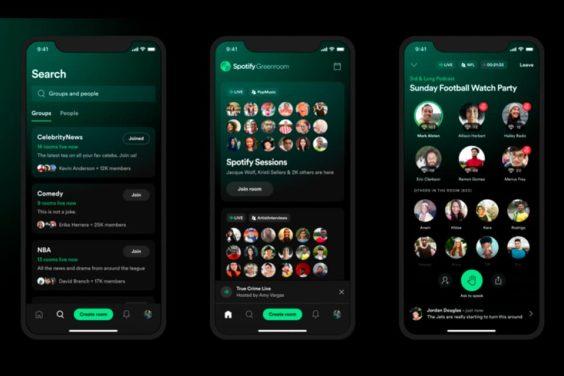 Spotify lanza su competidor de Clubhouse, Greenroom