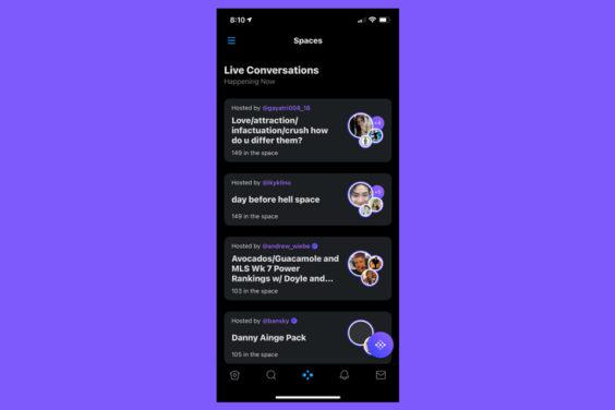 Twitter rediseña la app para poner Spaces en la pestaña central