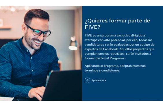 Facebook busca potenciar las startups españolas lanzando FIVE