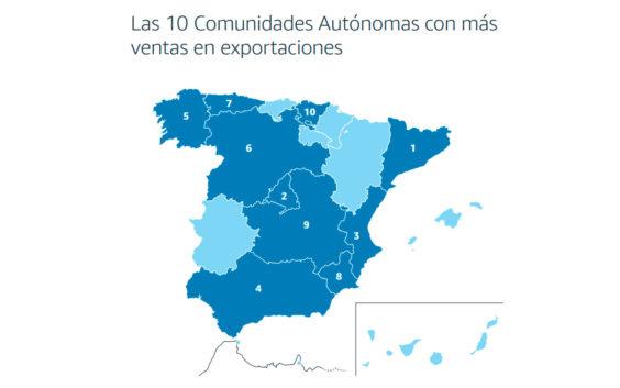 Comunidades con más pymes españolas en Amazon