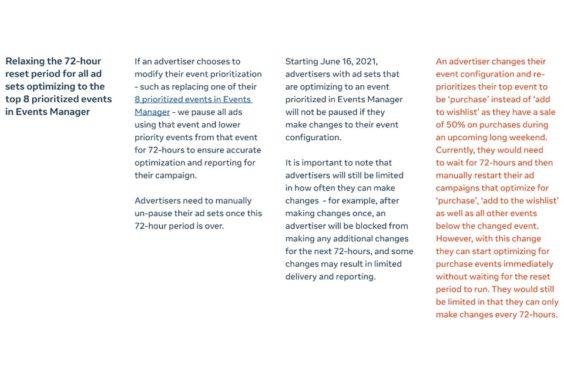 Cambios en Facebook en respuesta a la ATT de Apple