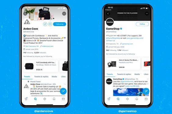 El nuevo módulo de compras para perfiles de Twitter