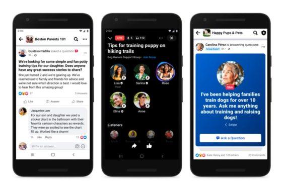 Más vías para conectar con la comunidad en los grupos de Facebook