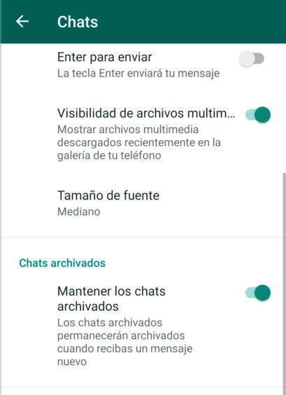 Como poner el modo vacaciones de Whatsapp