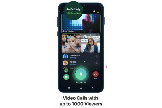 Las videollamadas en Telegram llegan a los mil participantes
