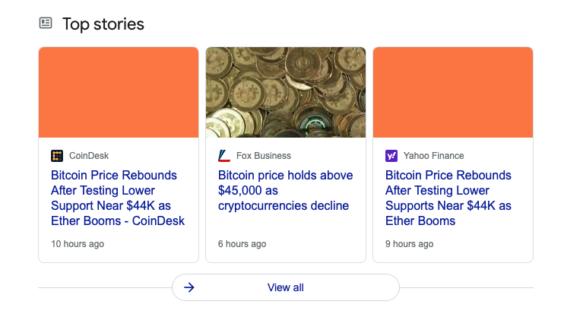 Fallan las imágenes en Google News