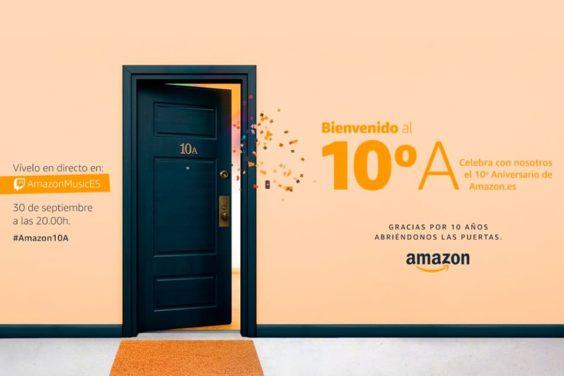 Celebra el décimo aniversario de Amazon España en Twitch