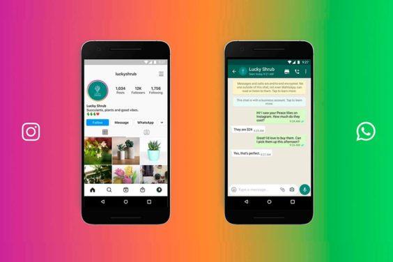 Contacta vía WhatsApp con un negocio desde Instagram