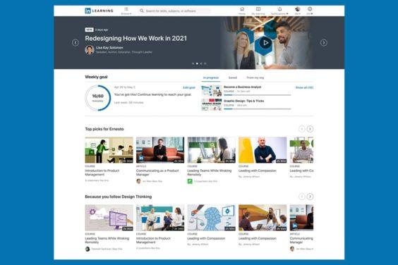 La nueva plataforma de aprendizaje de LinkedIn