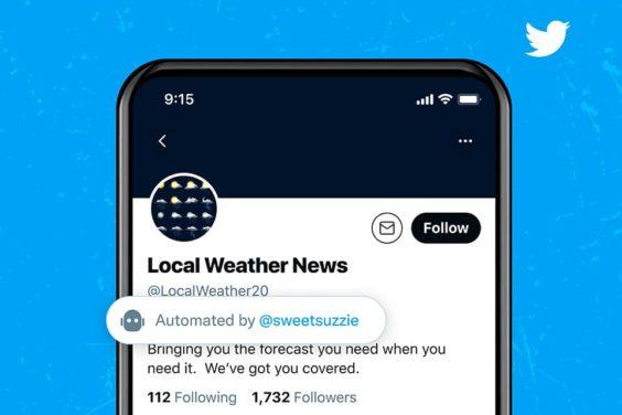 Twitter prueba una nueva etiqueta para identificar a los bots